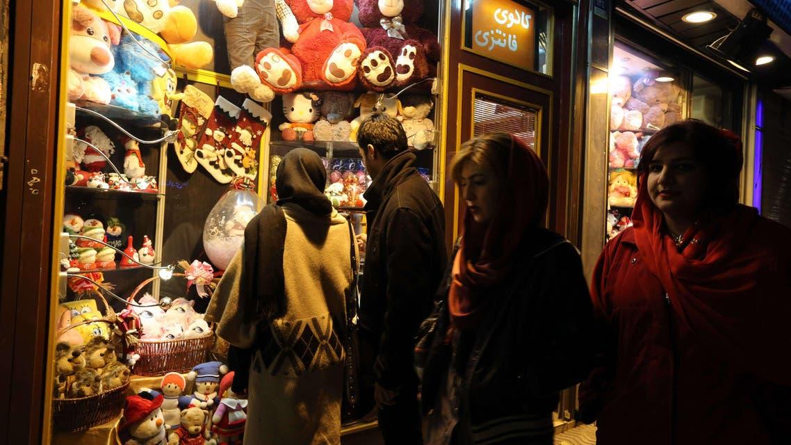 Christmas shopping in Iran