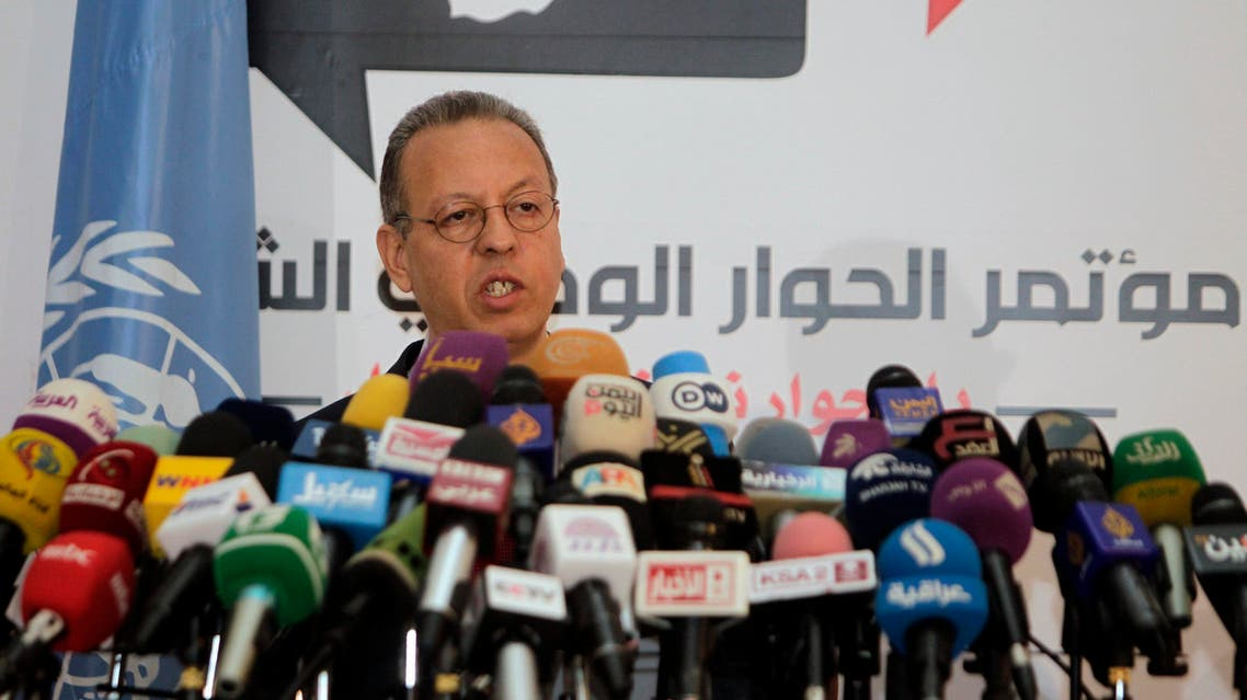 U.N. Yemen envoy Jamal Benomar addresses a news conference on a proposal to turn the country into a federation of semi-autonomous regions. (Reuters)