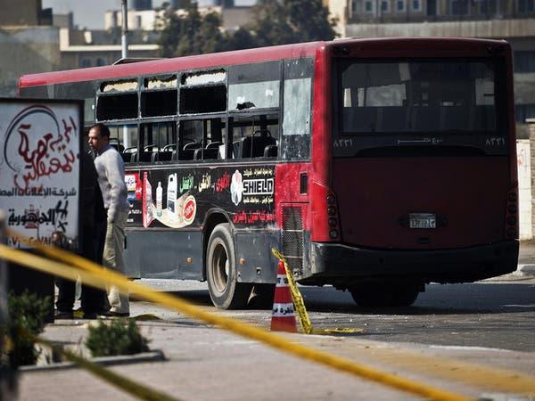 5 جرحى في انفجار عبوة ناسفة قرب حافلة ركاب بالقاهرة