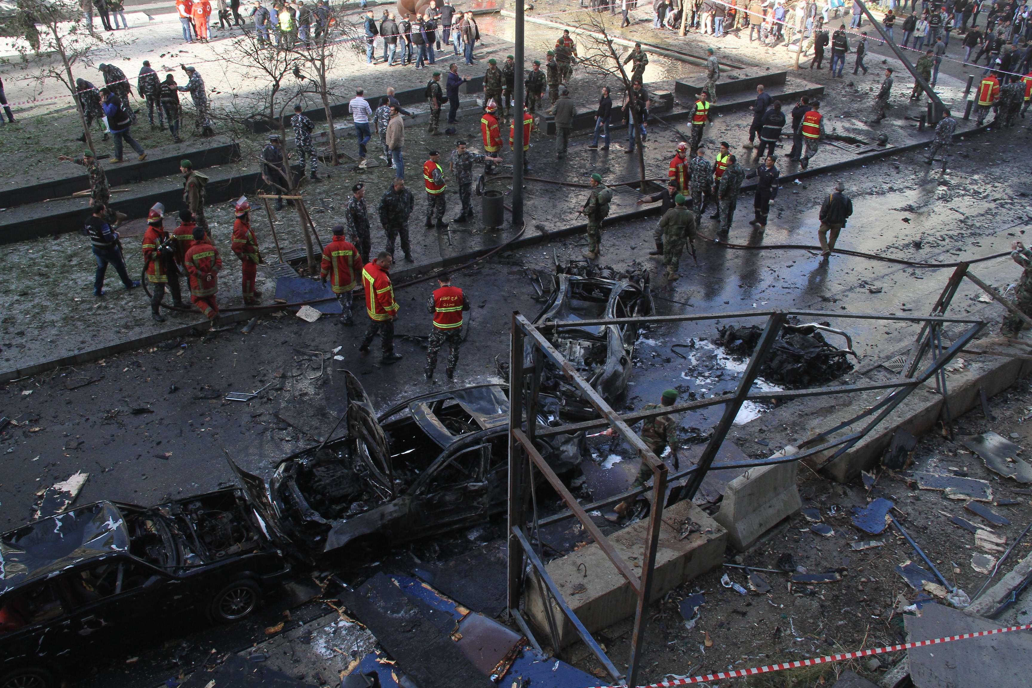 انفجار ضخم قرب فندق فينيسيا في بيروت