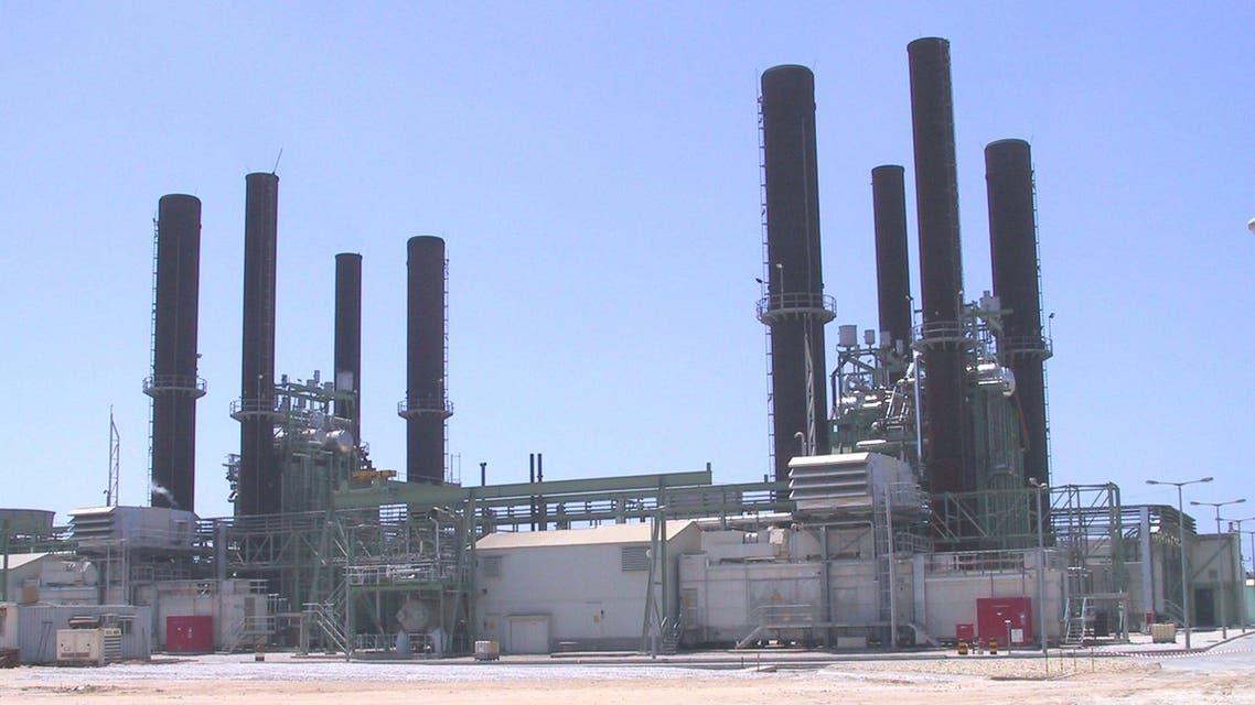 محطة كهرباء غزة وقود