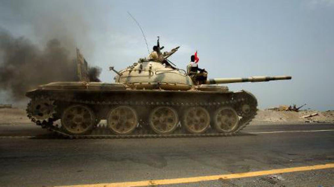 دبابة تابعة للجيش اليمني