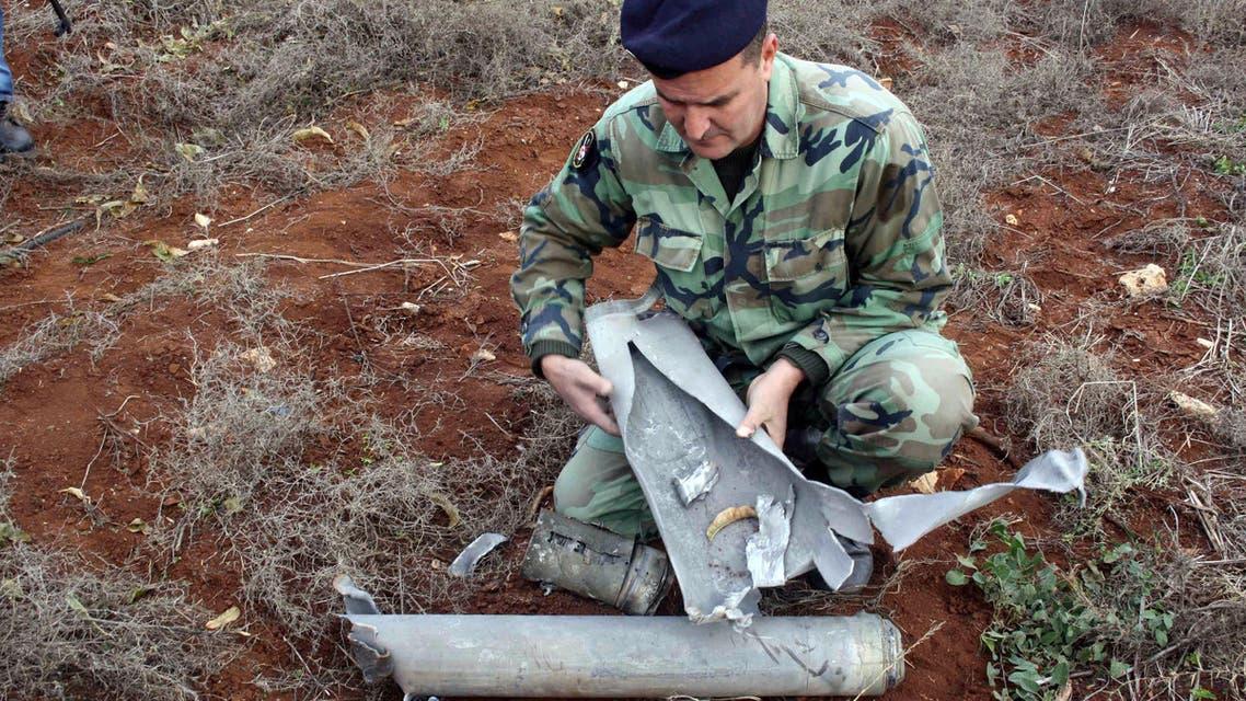 صواريخ اسرائيلية سقطت في الجنوب اللبناني