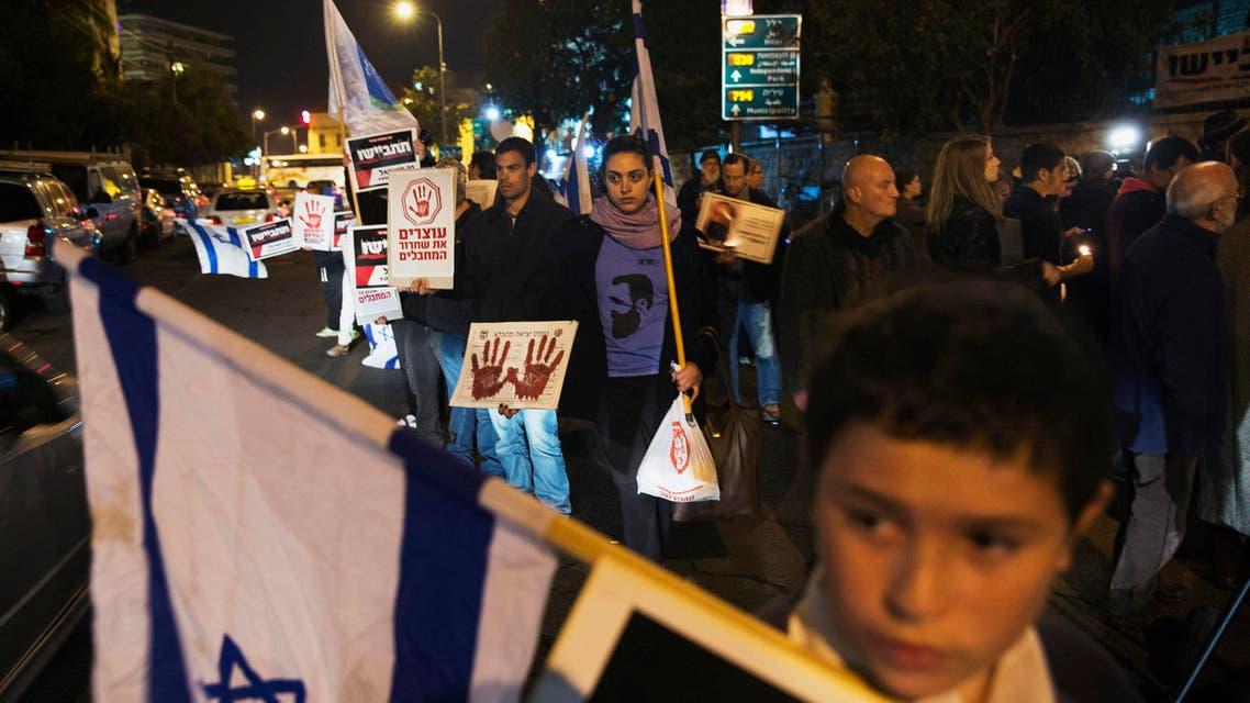 محتجون اسرائيل اسرى