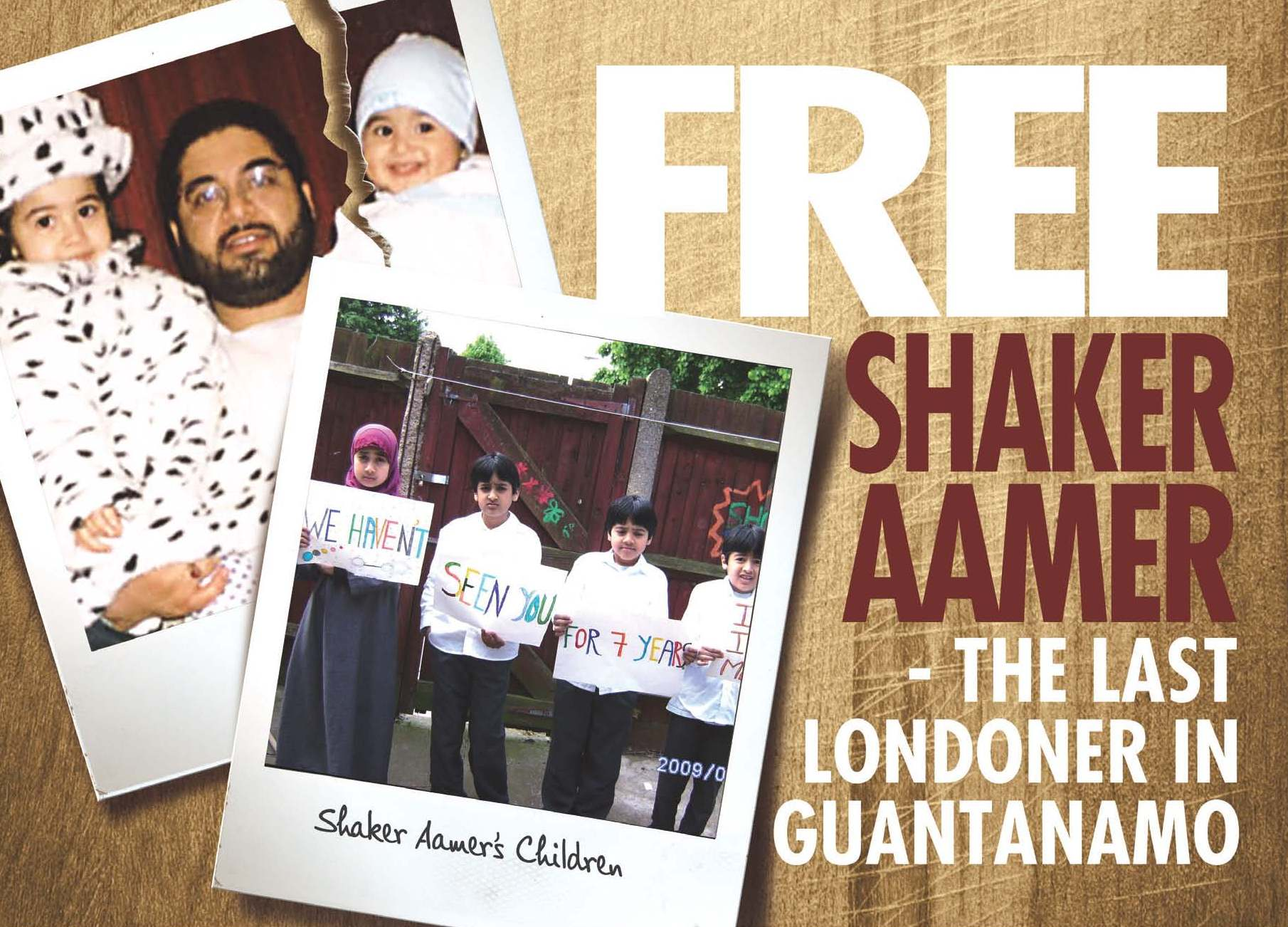 A UK-based campaign petitioning for the release of Shaker Aamer. (Photo courtesy: ummah.com)