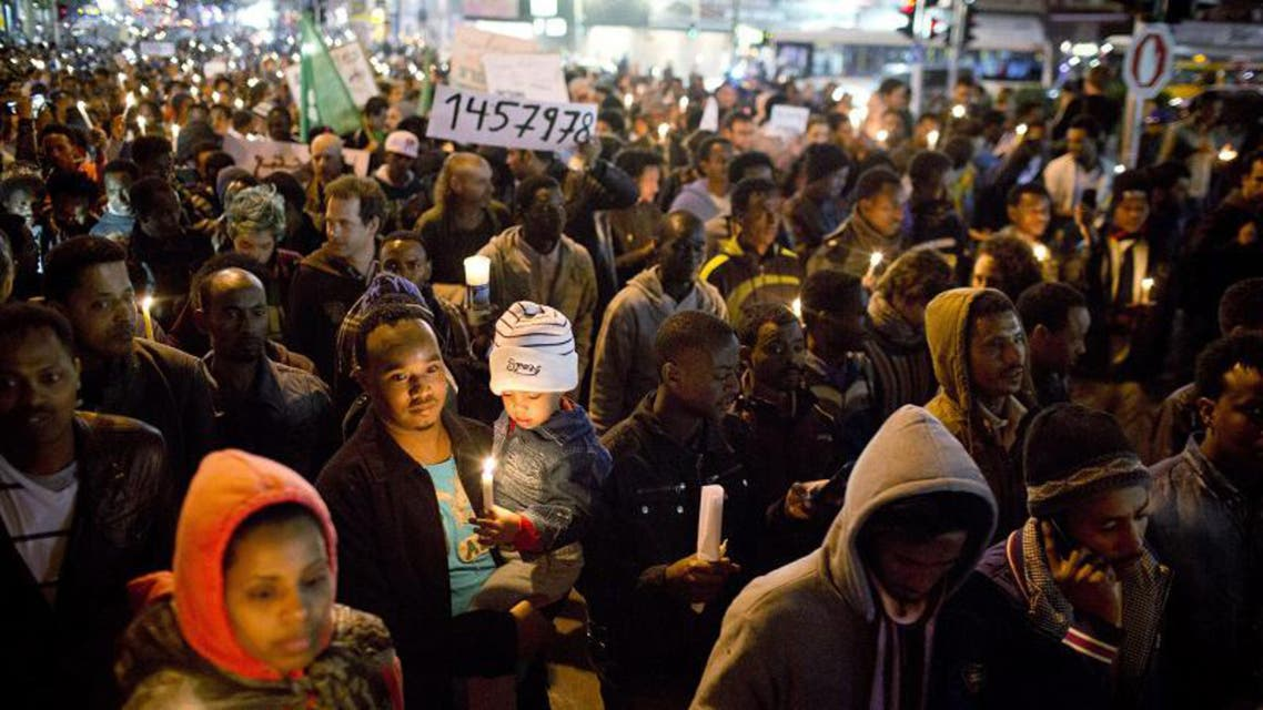 Africans protest in Israel