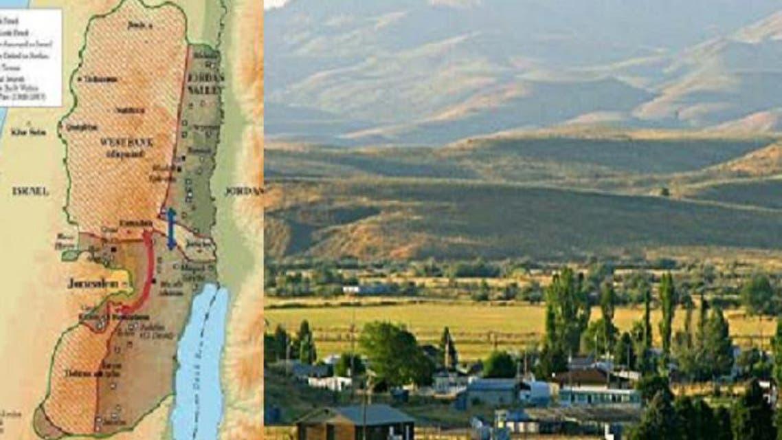 الوادي بلونه البني هو ربع مساحة الضفة العربية
