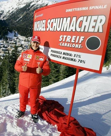 شوماخر كان يمارس التزلج دائما في المنتجع الجليدي نفسه
