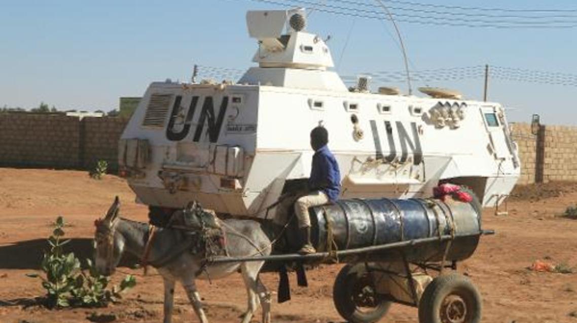 دورية تابعة للقوة المشتركة للأمم المتحدة والاتحاد الأفريقي في دارفور