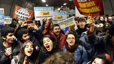 Passenger beating sparks Turkey metro demos