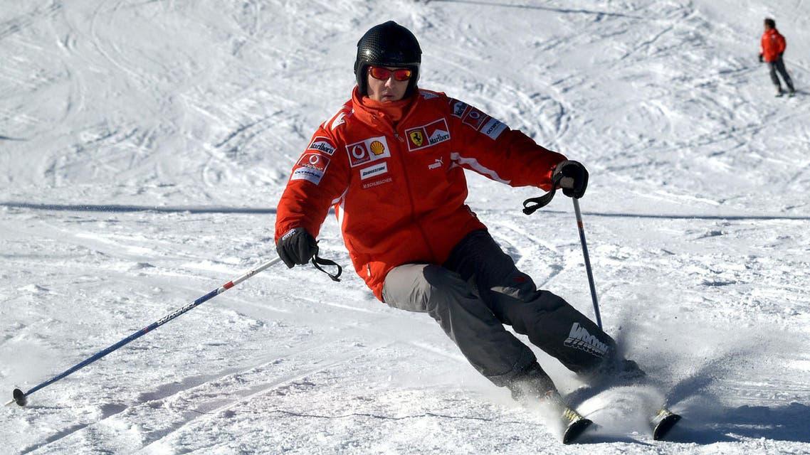 مايكل شوماخر يتزلج