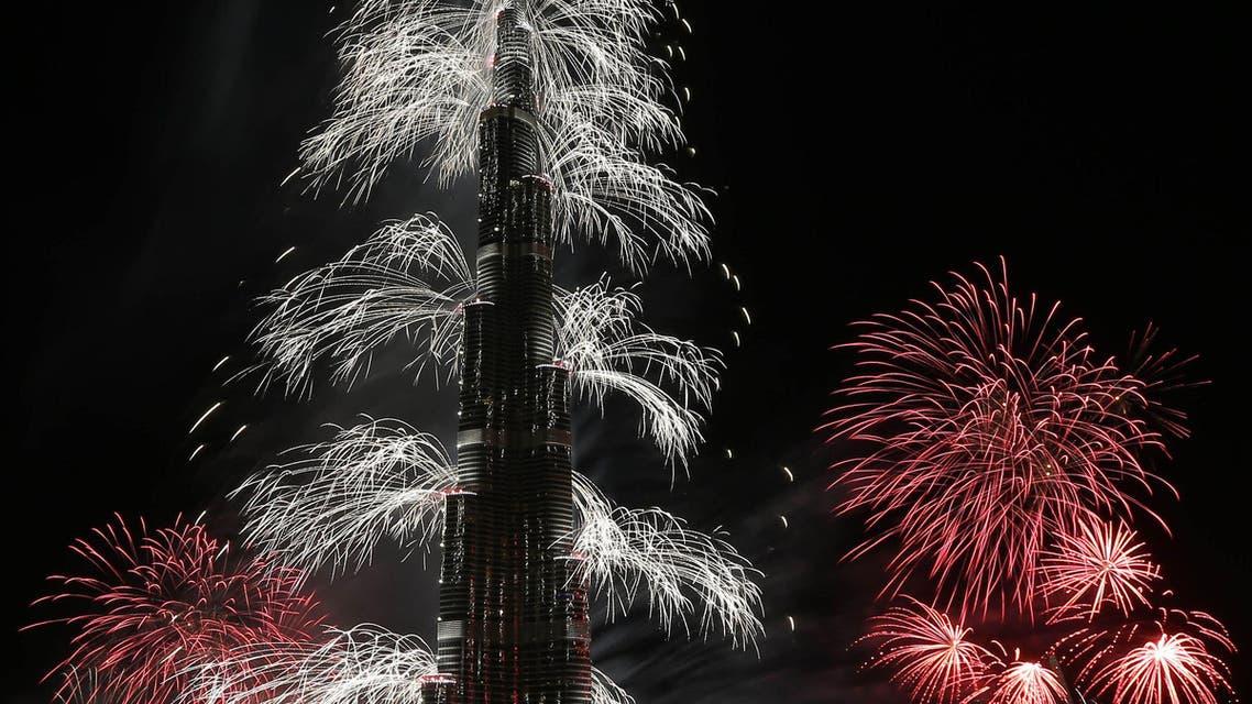 Dubai's world record 2014 fireworks