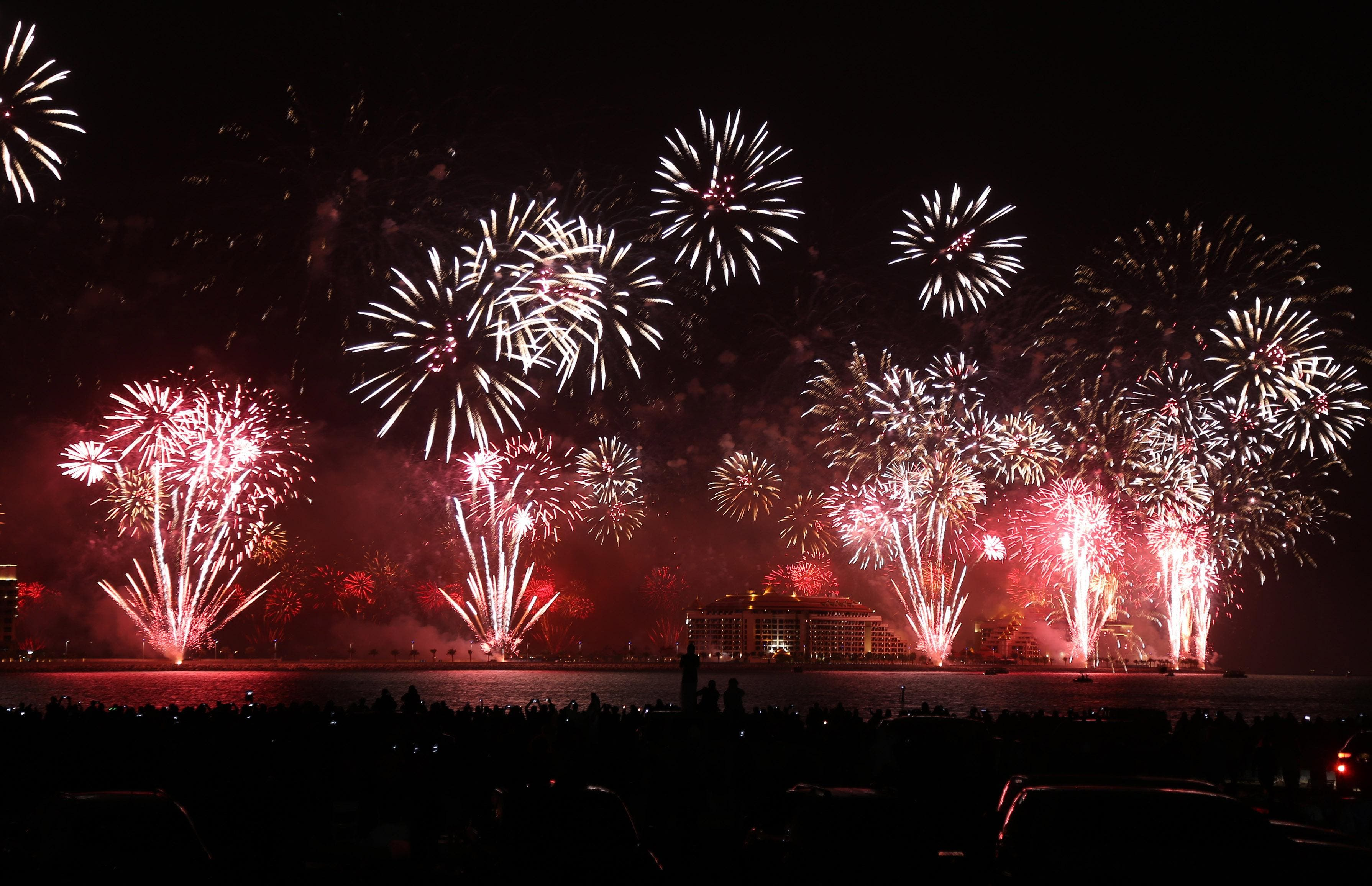 Dubai's world record 2014 fireworks