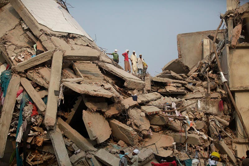 A Bangladeshi garment factory collapsed