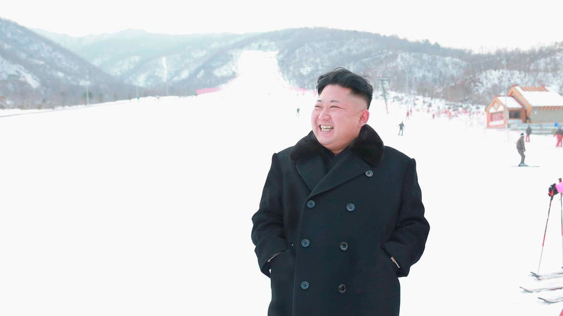 North Korean leader Kim Jong Un visits the newly built ski resort in the Masik Pass region, in this undated photo released by North Korea's Korean Central News Agency (KCNA) in Pyongyang on December 31, 2013.