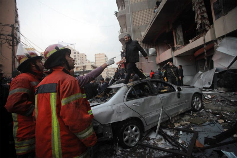 الضاحية الجنوبية بالعاصمة اللبنانية بيروت