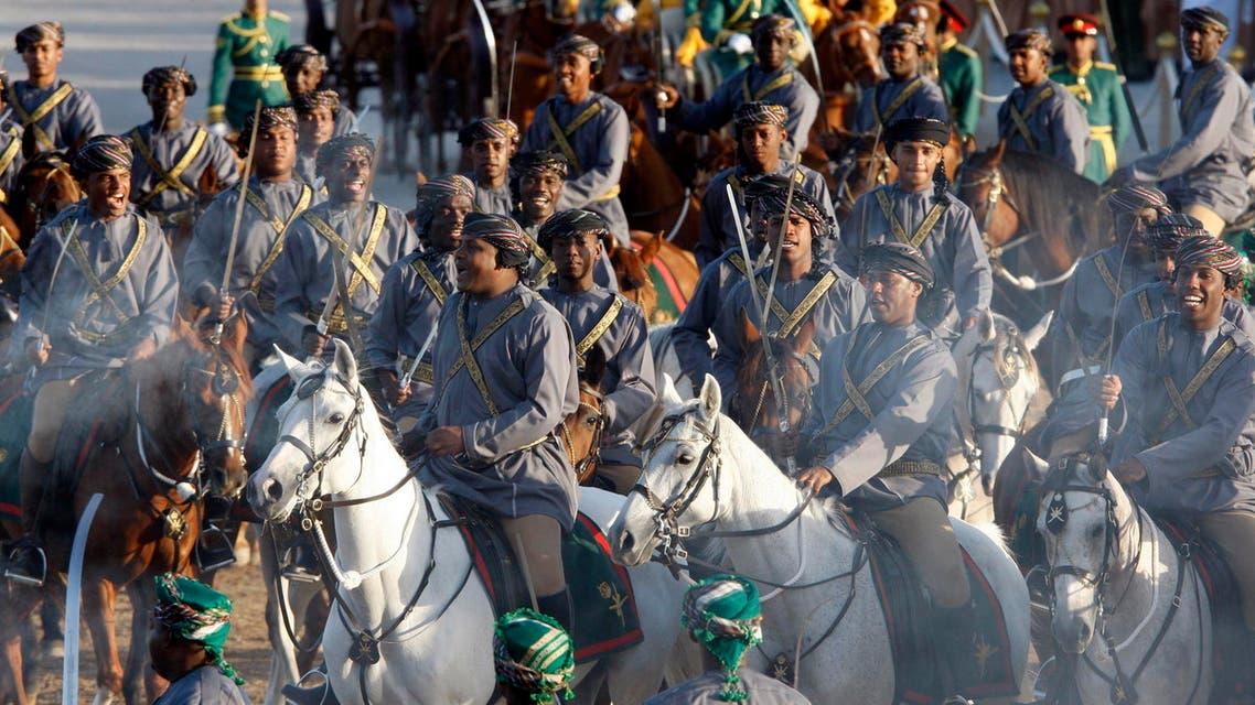 Oman's Royal Cavalry parade