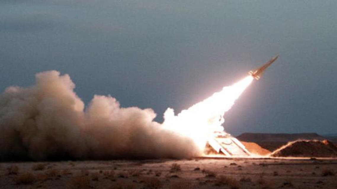An Iranian Hawk surface-to-air missile. Iran supplies its ally Hezbollah with ballistic missiles used against Israel. (File Photo: AFP)