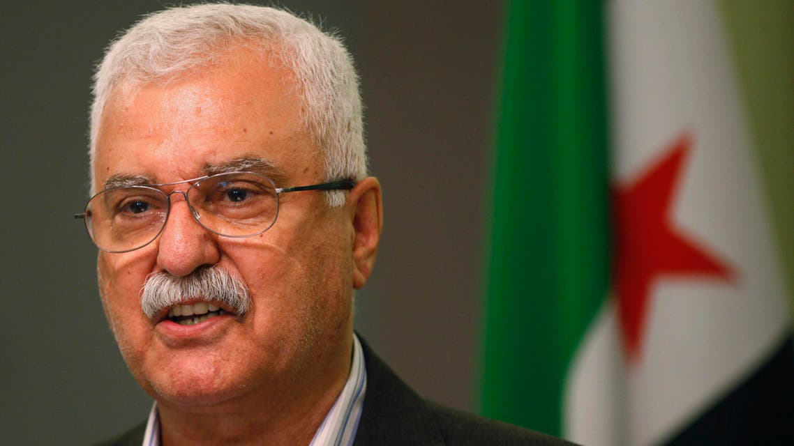 George Sabra, a veteran Christian opposition figure and acting President of the Syrian National Coalition, speaks during a news conference in Istanbul May 13, 2013. reuters