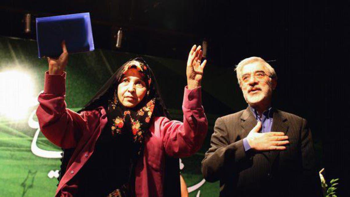 زهرا رهنورد وزوجها مير حسين موسوي زعيم المعارضة