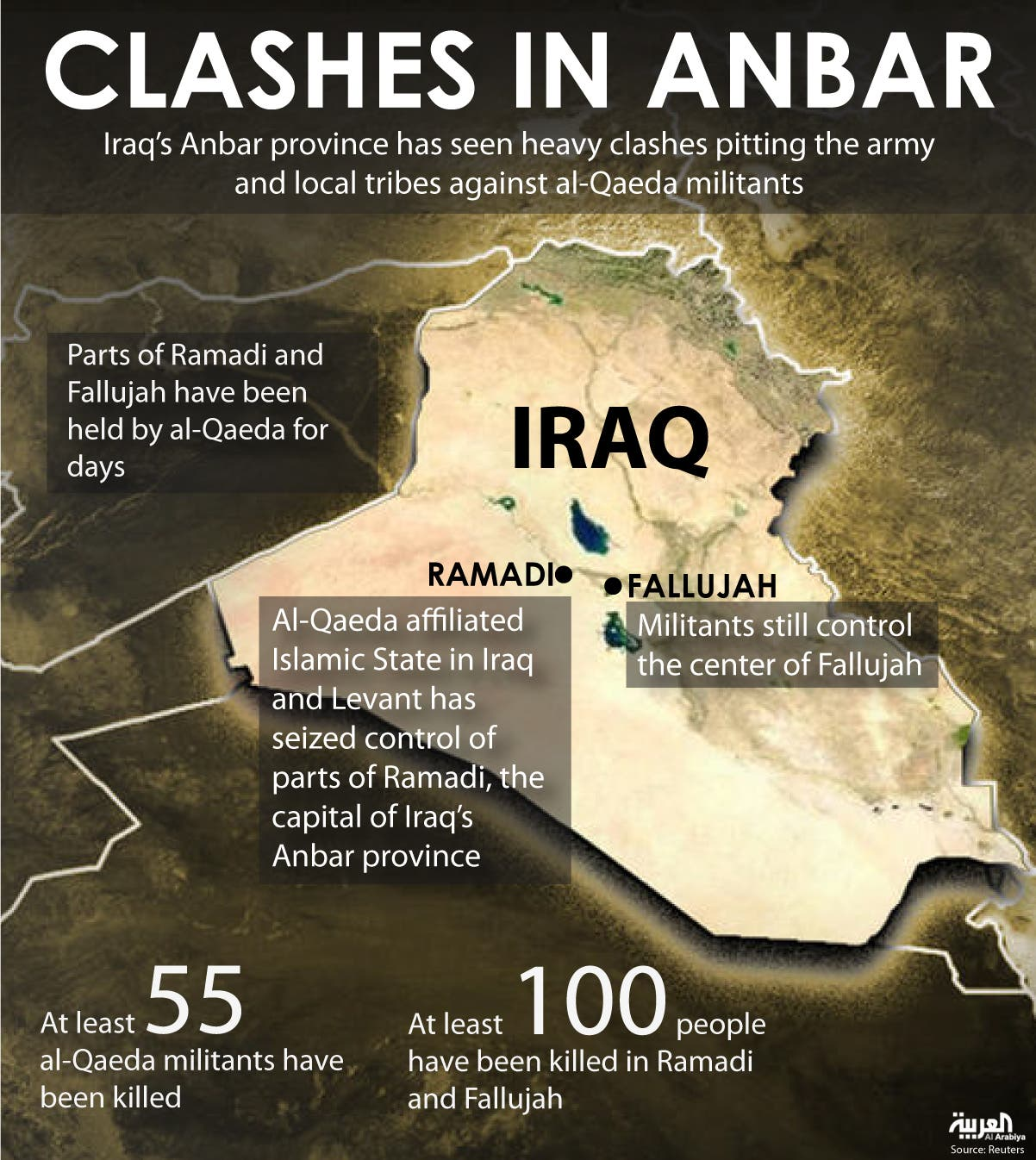 Infographic: Clashes in Anbar