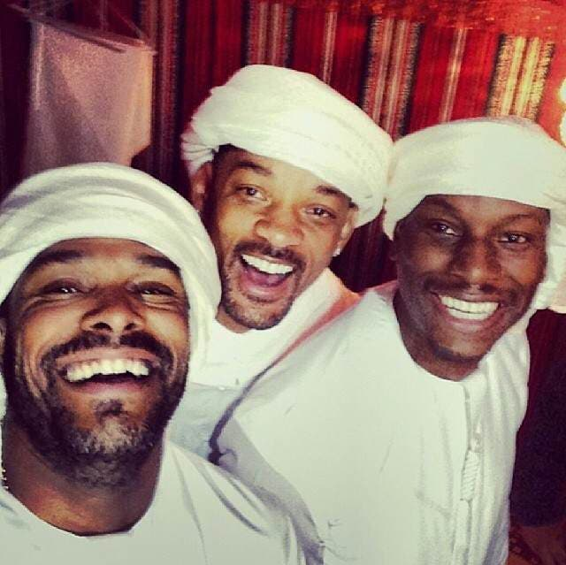 Will Smith celebrates Gibson's birthday with friends. (Photo courtesy of Twitter)
