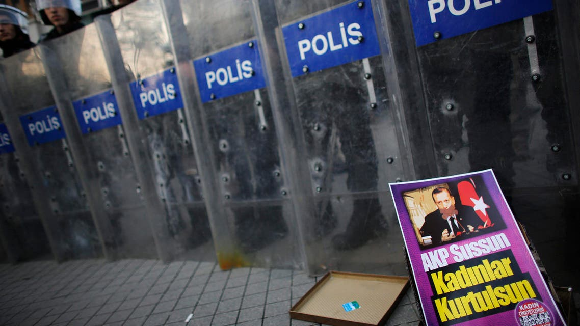 Women's rights protest in Istanbul