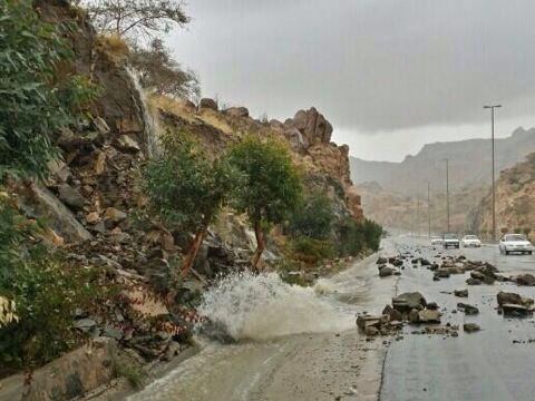 Rain falls in Saudi Arabia