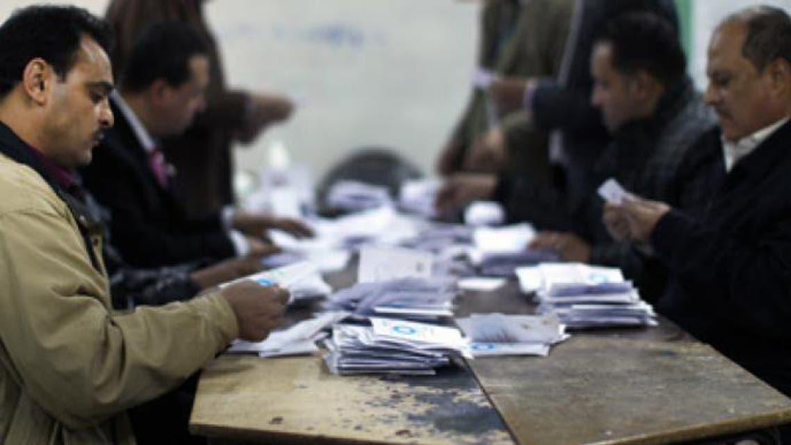 فرز الاصوات في الانتخابات في مصر 2012