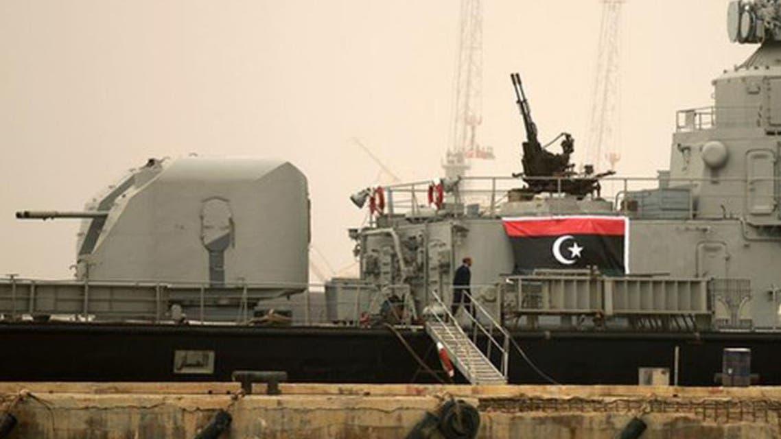 سفينة عسكرية تابعة لقوات البحرية الليبية