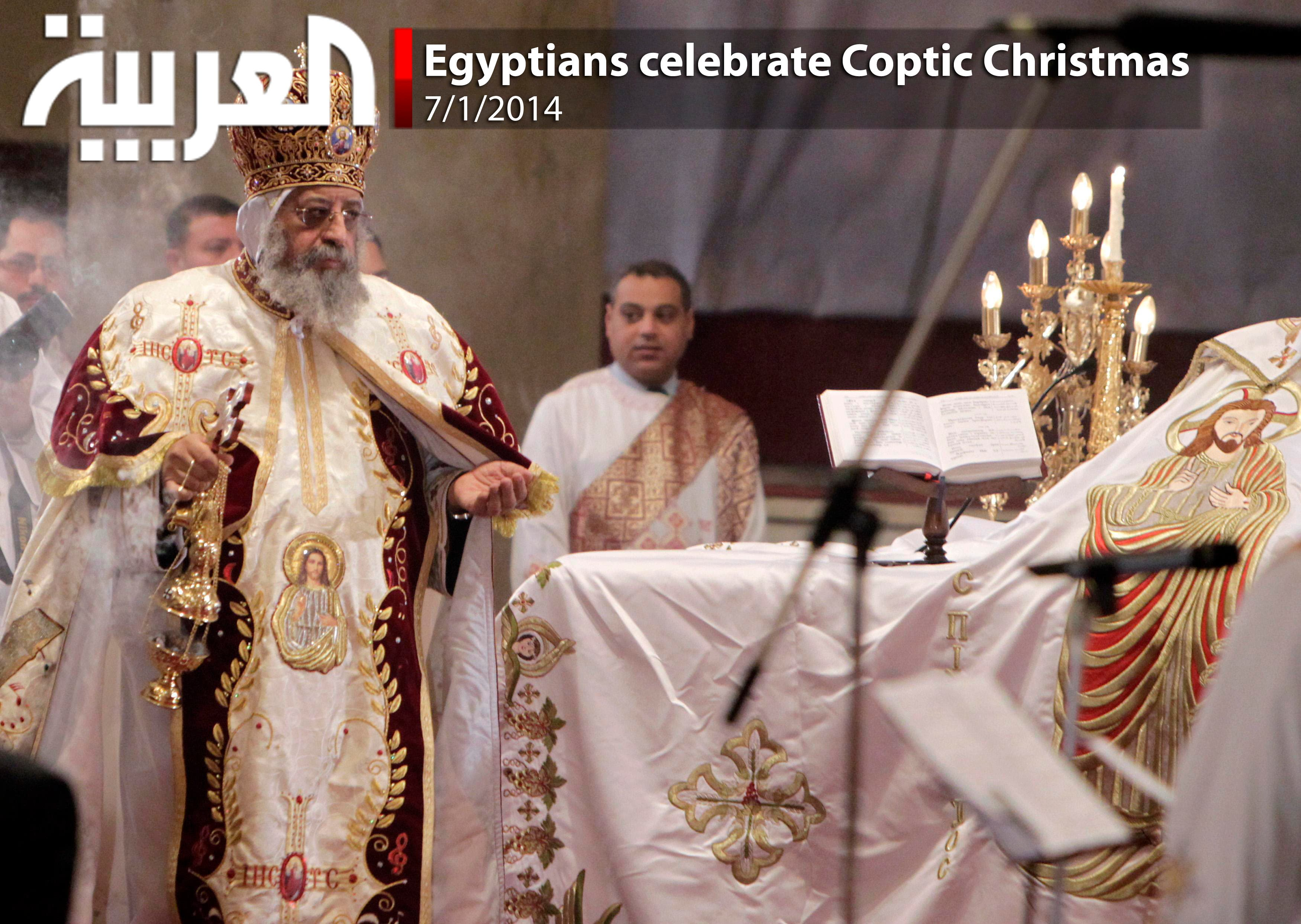 Egyptians celebrate Coptic Christmas - Al Arabiya English