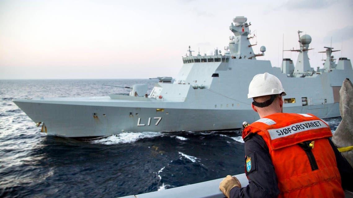 سفينة الدعم الدانمركي المشاركة في عملية نقل الاسلحة الكيميائية