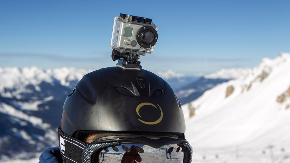 A GoPro camera is seen on a skier's helmet. (File photo: Reuters)