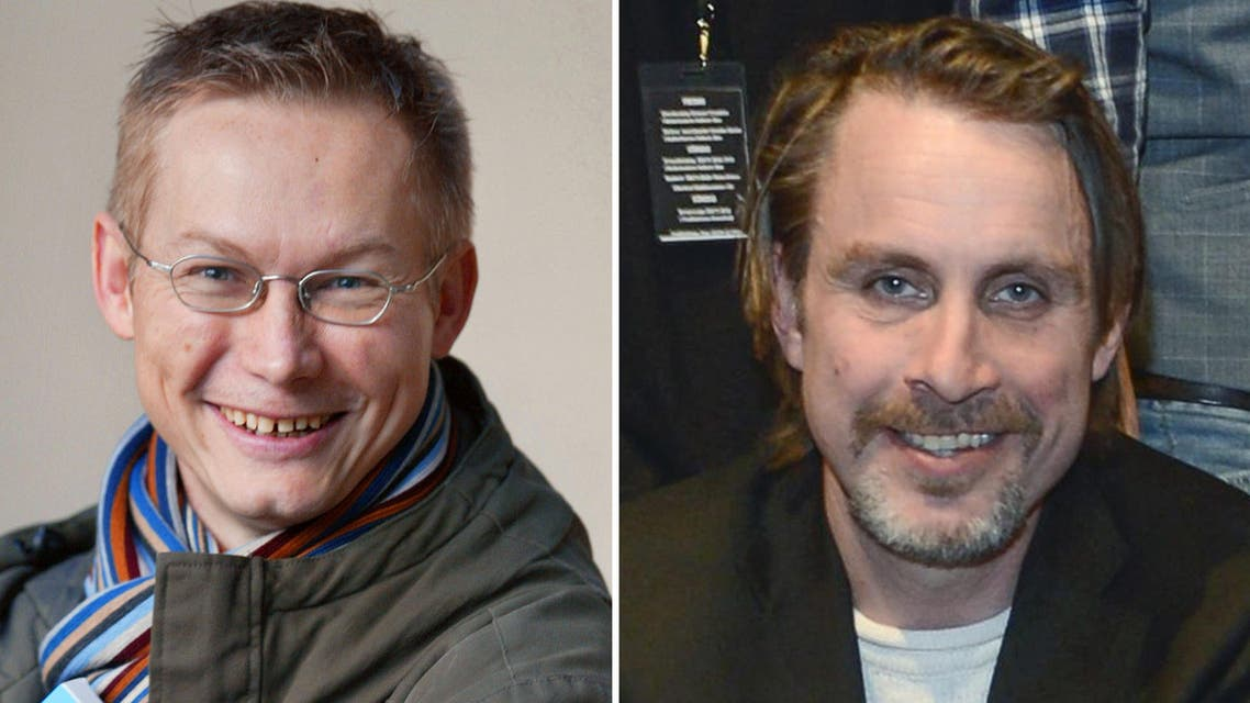 A combo shows a portrait of Swedish journalist Magnus Falkehed (L) and a portrait of Swedish photographer Niclas Hammarstrom (R). (File photo: AFP)
