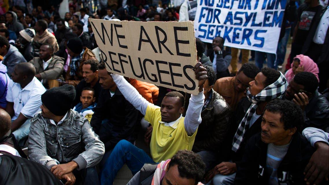 African migrants protest in Tel Aviv