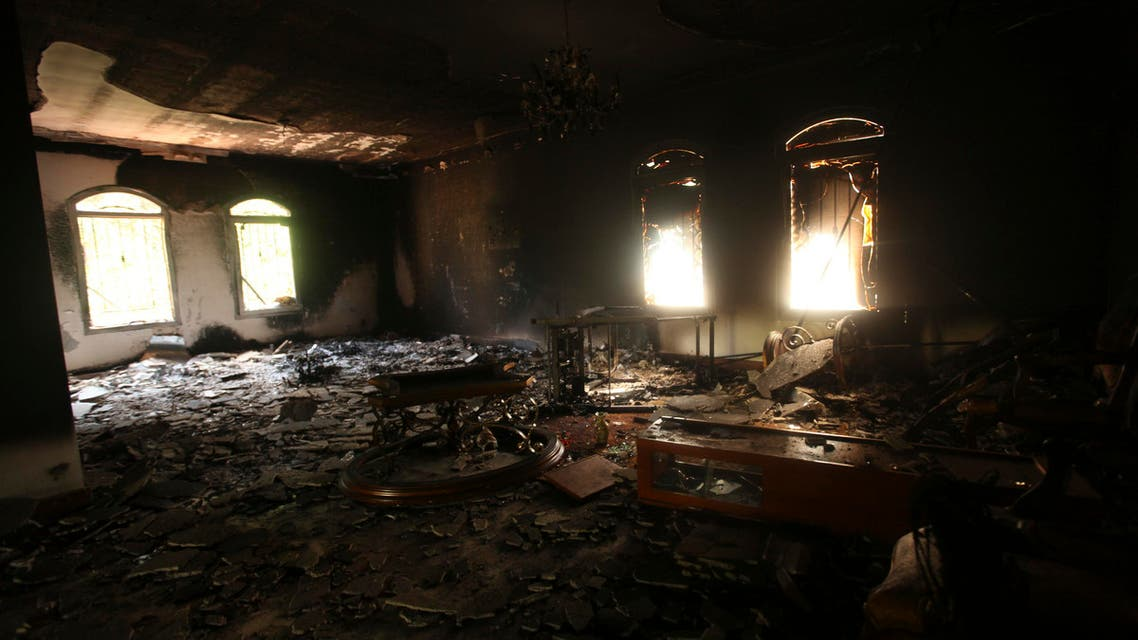 An interior view of the U.S. consulate, which was attacked and set on fire by gunmen in Benghazi Sept. 11, 2012. (Reuters)