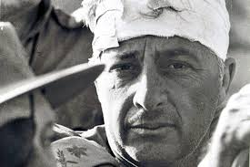 Ariel Sharon with a bandaged head during the 1973 war. (Photo courtesy: GPO/ REX)