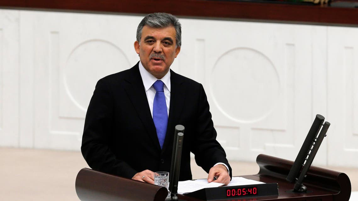 Turkey's President Abdullah Gul addresses the Turkish Parliament during a debate marking the reconvene of the parliament after a summer recess in Ankara Oct. 1, 2013. (Reuters)