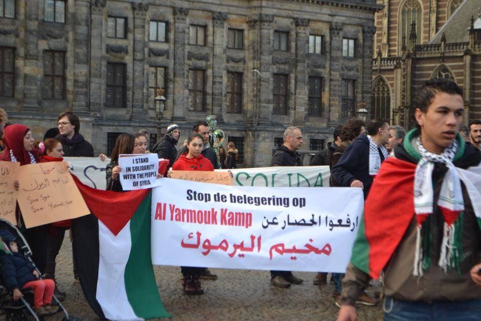 حملات تضامنية في عدة مدن اوروبية تضامناً مع اهالي مخيم اليرموك