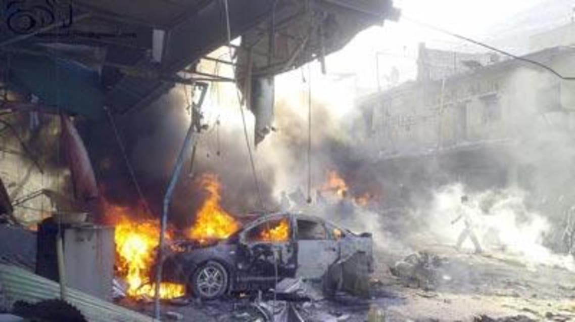 موقع تفجير سيارة مفخخة في سوريا