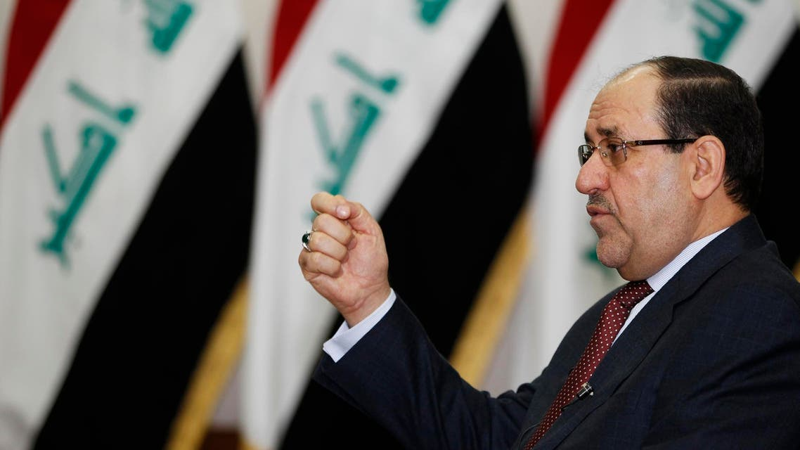 Iraq's Prime Minister Nuri al-Maliki speaks during an interview with Reuters in Baghdad Jan. 12, 2014. (Reuters)