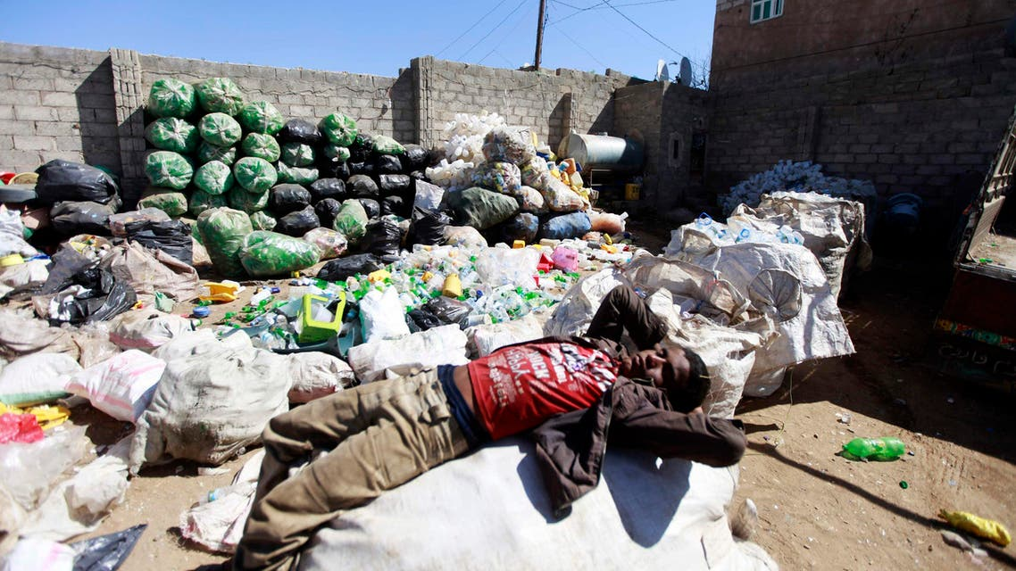 Rag pickers in Sanaa