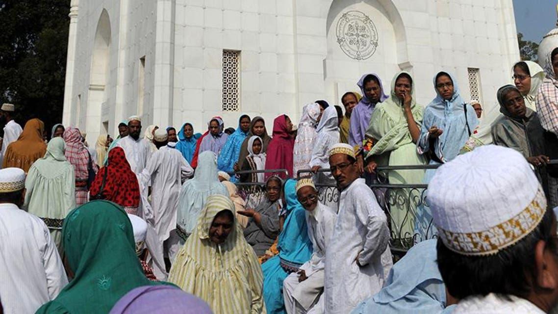 مأتم زعيم روحي مسلم تٌوفي  في الهند
