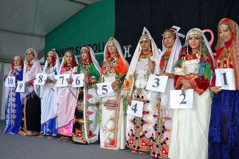 Contestants in the beauty pageant. (Photo courtesy: Hespress website)