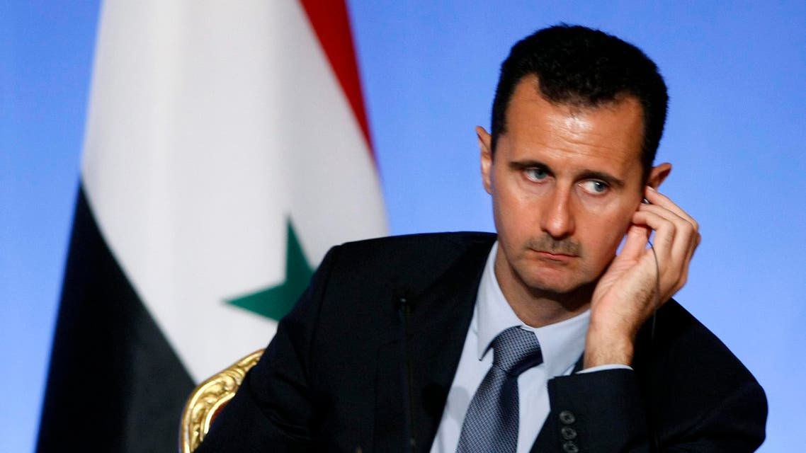 Syria's President Bashar al-Assad is seen during a news conference at the Elysee Palace in Paris July 12, 2008. reuters