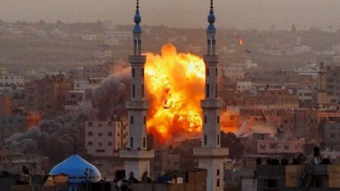 غارة حربية اسرائيلية على غزة