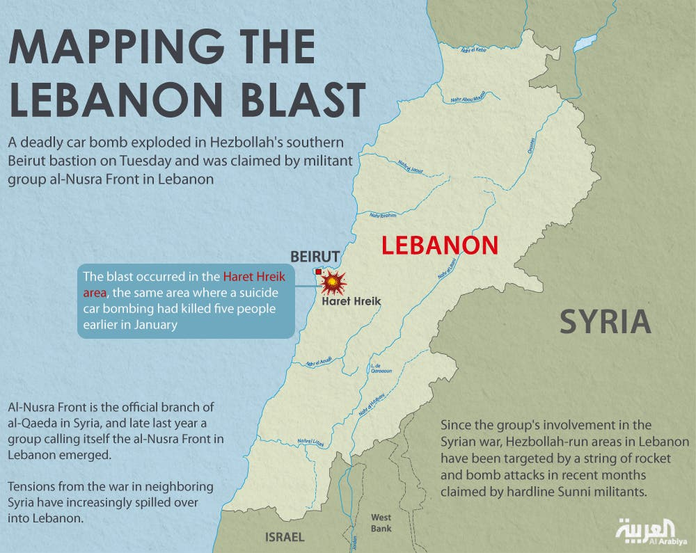 Infographic: Mapping the Lebanon blast