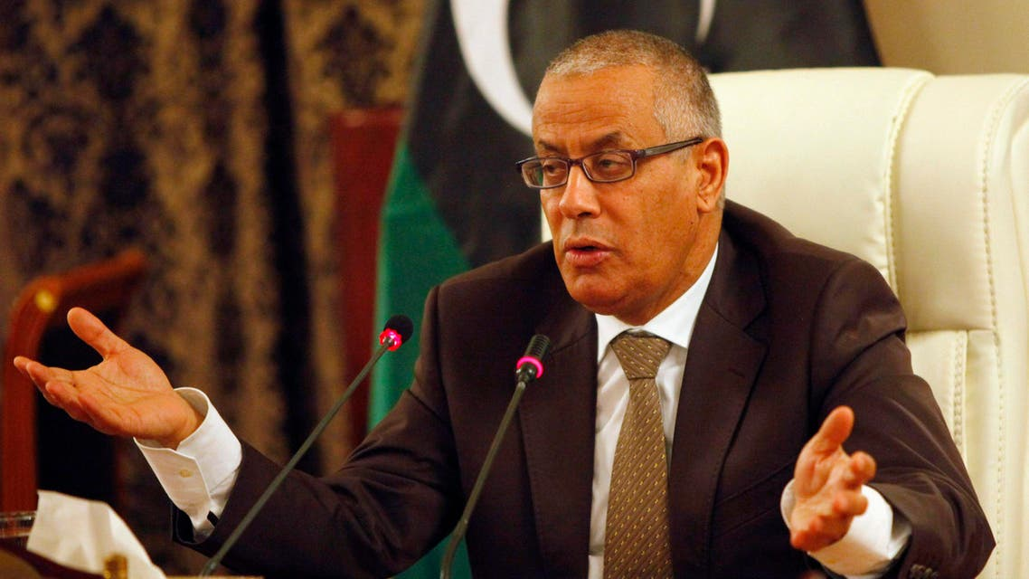 Libya's Prime Minister Ali Zeidan speaks during a joint news conference at the headquarters of the Prime Minister's Office in Tripoli, Nov. 10, 2013. (Reuters)