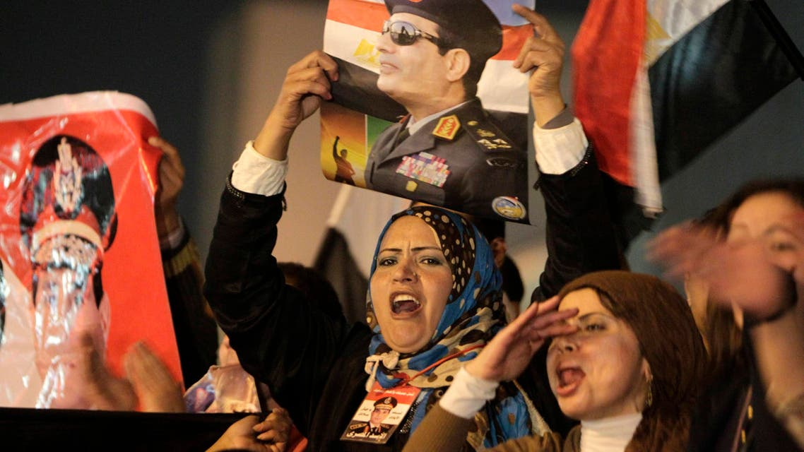 Egyptians continue to cheer for Sisi
