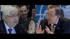 'It took me 12 hours to get here!' Syrian FM bickers with Ban Ki-moon
